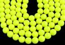 Swarovski pearls, neon yellow, 14mm - x2