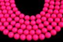Swarovski pearls, neon pink, 14mm - x2
