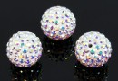 Swarovski, pave beads, aurore boreale, 10mm - x1