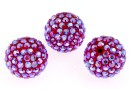 Swarovski, pave beads, light siam shimmer, 8mm - x1
