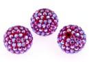 Swarovski, pave beads, light siam shimmer, 10mm - x1