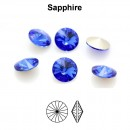Preciosa rivoli, sapphire, 10mm - x2