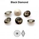 Preciosa rivoli, black diamond, 10mm - x2