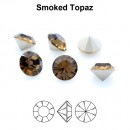 Preciosa chaton, smoked topaz, 8mm - x2