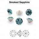 Preciosa chaton, smoked sapphire, 8mm - x2