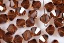 Preciosa, bicone bead, smoked topaz, 4mm - x40