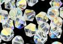 Preciosa, bicone bead, crystal aurore boreale, 6mm - x20